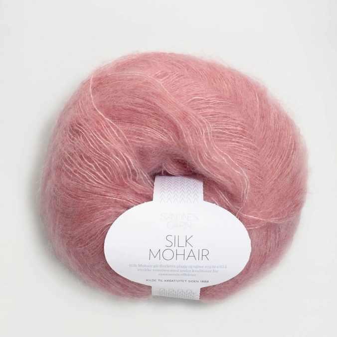 Пряжа SANDNES GARN Silk Mohair Цвет.4023 Rosa melert