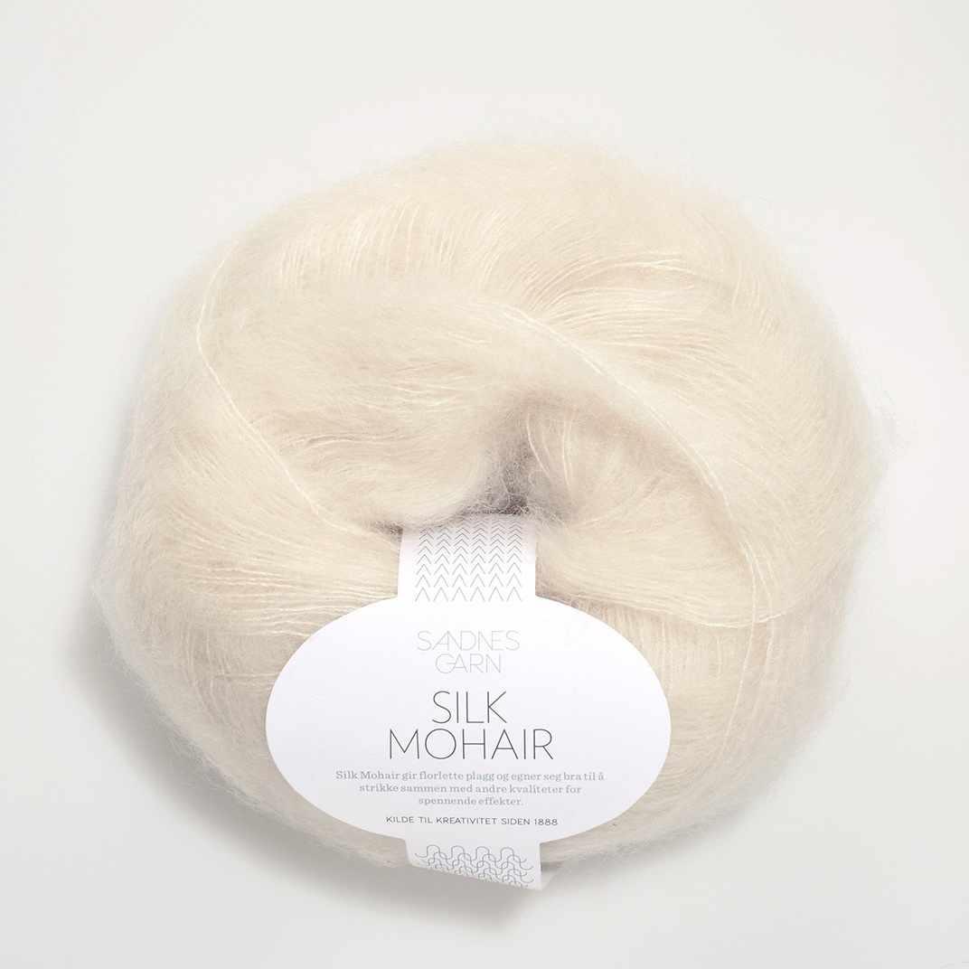 Пряжа SANDNES GARN Silk Mohair Цвет.1012 Natur