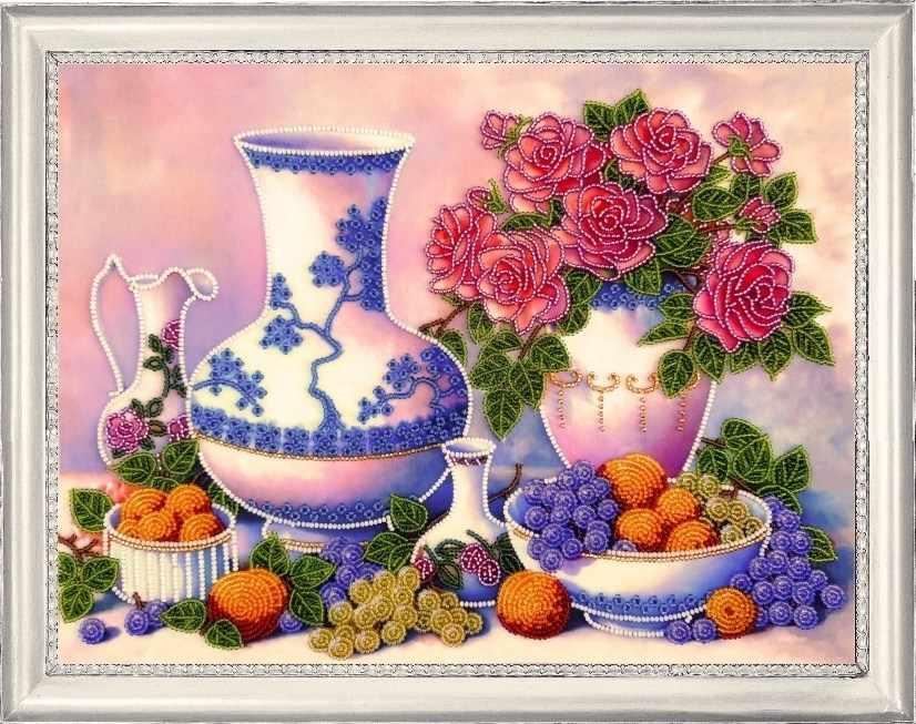 175 Розы и виноград - Butterfly