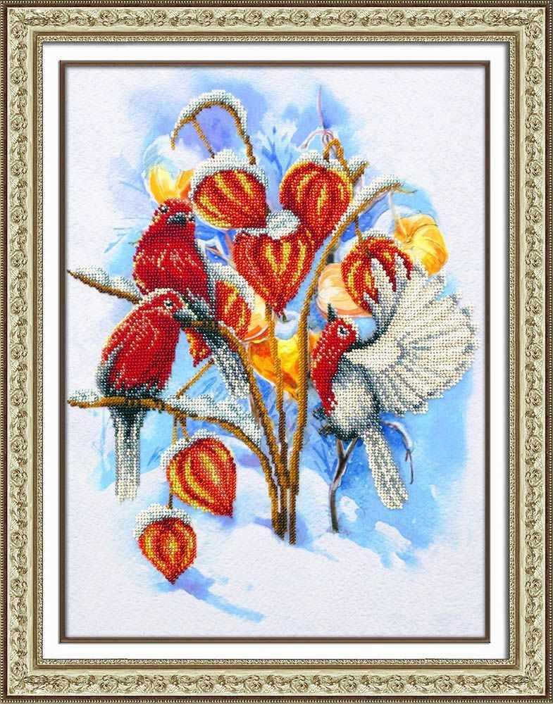 Б-1475 Физалис в снегу (Паутинка)