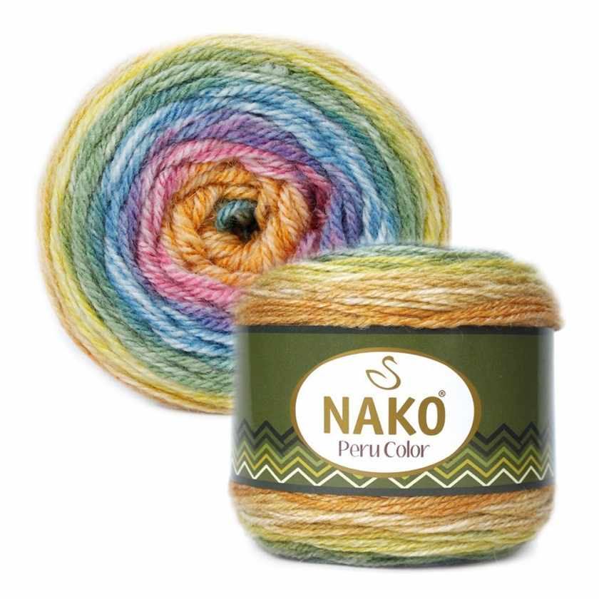 Пряжа Nako PERU COLOR Цвет.32190