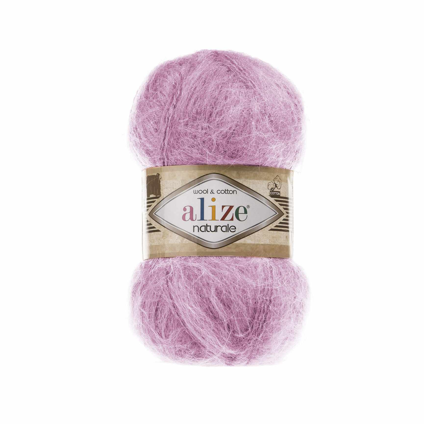 Пряжа Alize Naturale Цвет.392 Розовый
