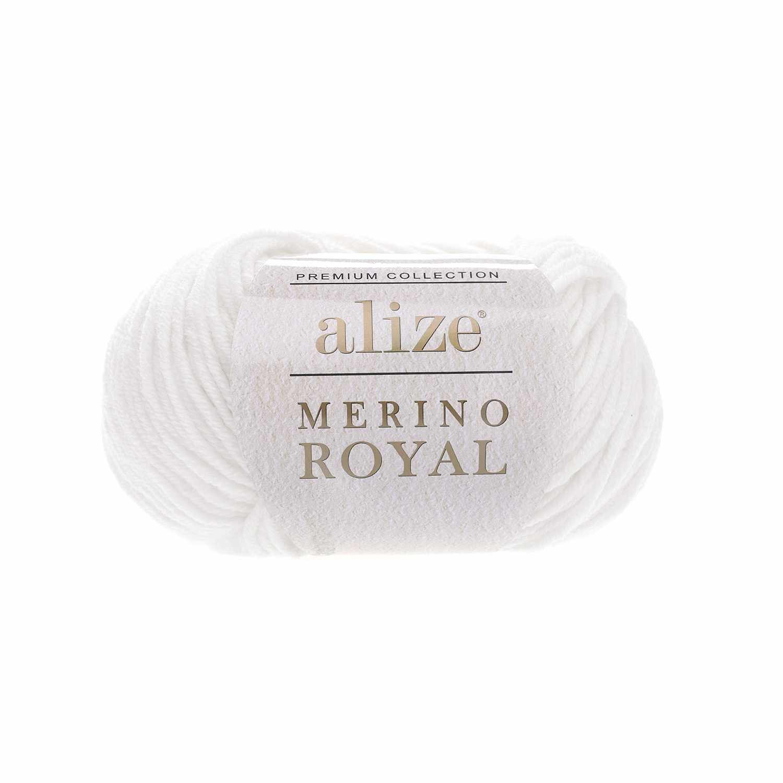 Пряжа Alize Merino Royal Цвет.55 Белый