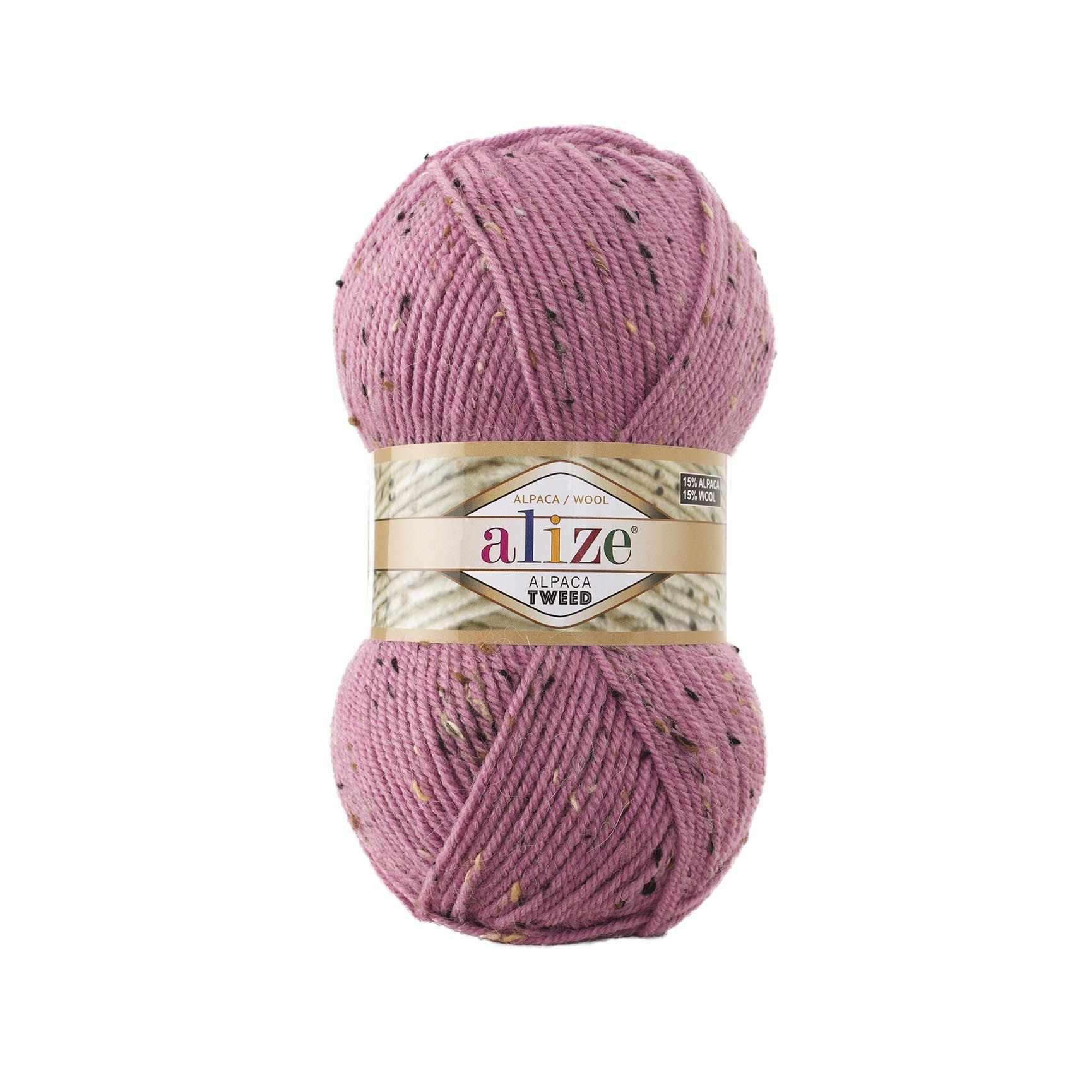 Пряжа Alize Alpaca Tweed Цвет.269 Розовый