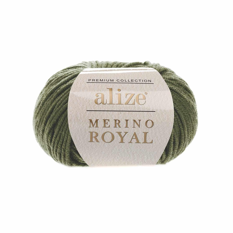 Пряжа Alize Merino Royal Цвет.284 Хаки