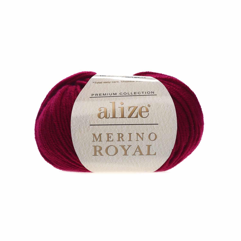 Пряжа Alize Merino Royal Цвет.390 Вишневый