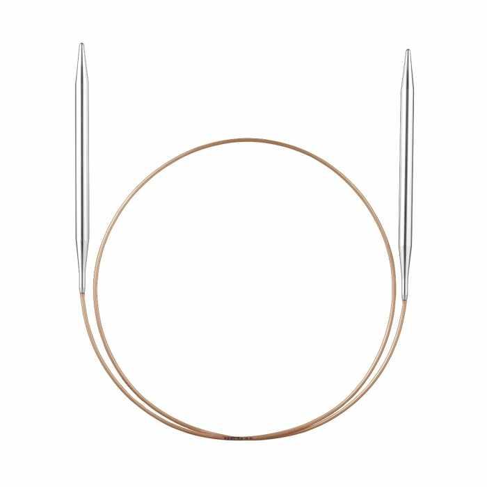 105-7/10-40 Спицы, круговые, супергладкие, никель, №10, 40 см