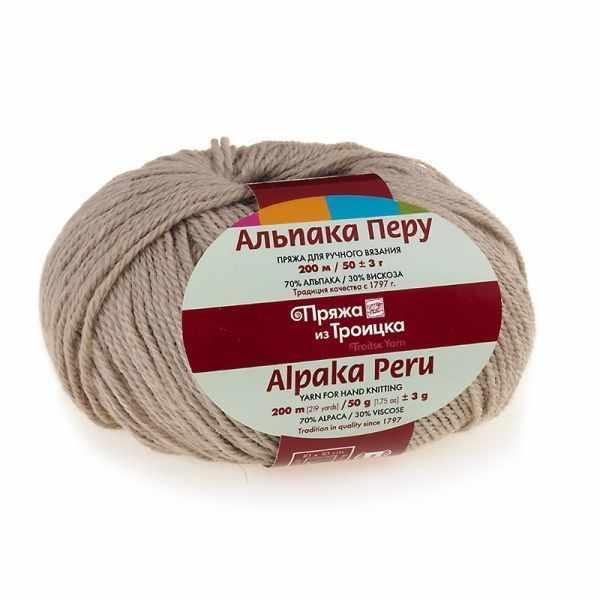 Пряжа Троицкая Альпака Перу Цвет.0538 Фрез