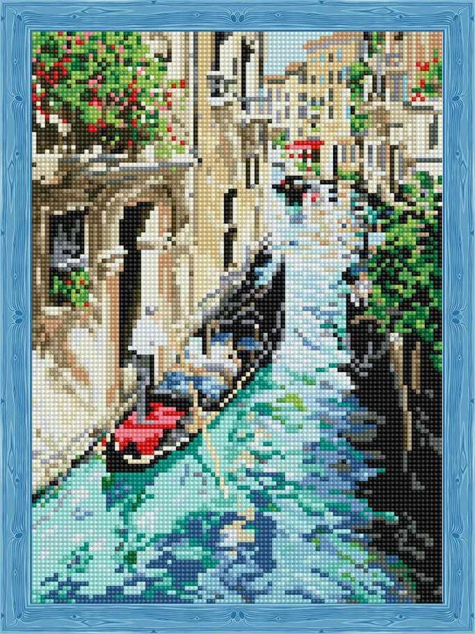 Алмазная вышивка QS200624 «Прогулка по Венеции»
