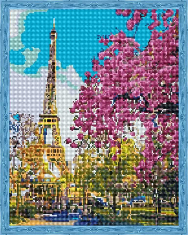 Алмазная вышивка QA201488 «Парижская весна»