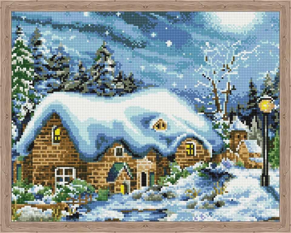Алмазная вышивка QA200279 «Зимняя ночь»