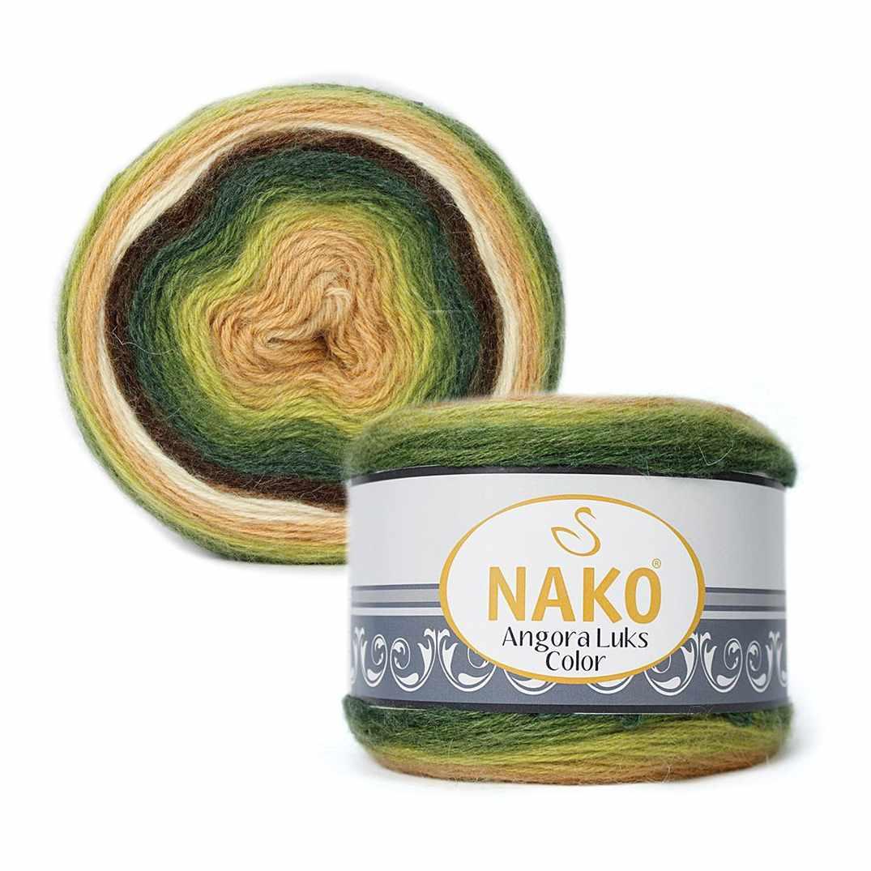 Пряжа Nako Angora Luks color Цвет.81905 Желто зеленый