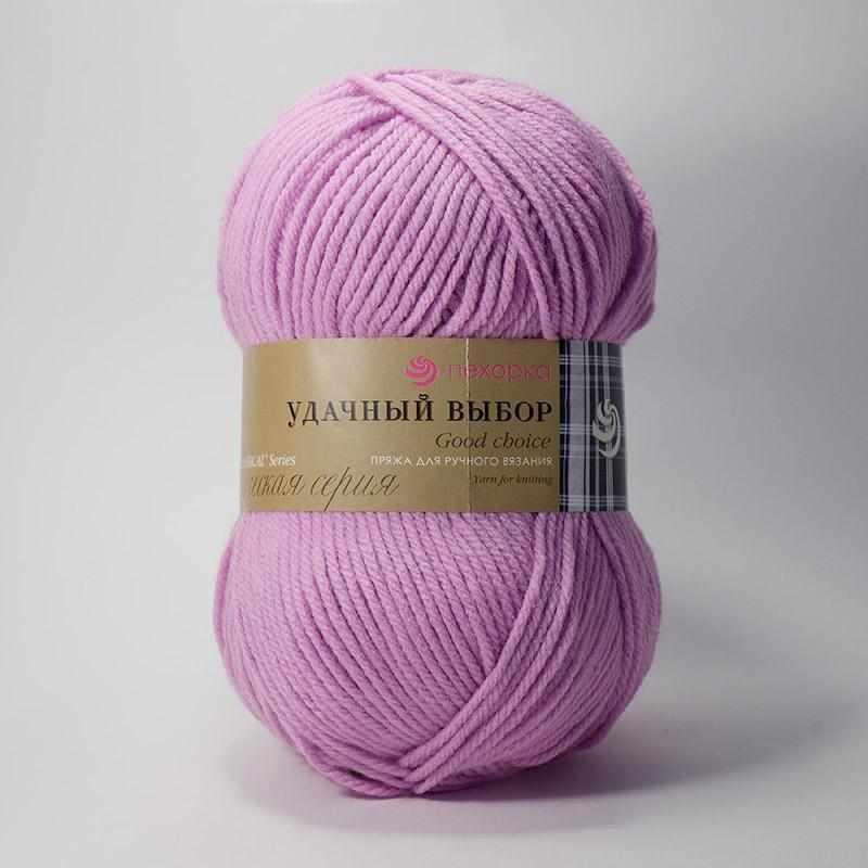 Пряжа Пехорка Удачный выбор Цвет.29 Розовая сирень
