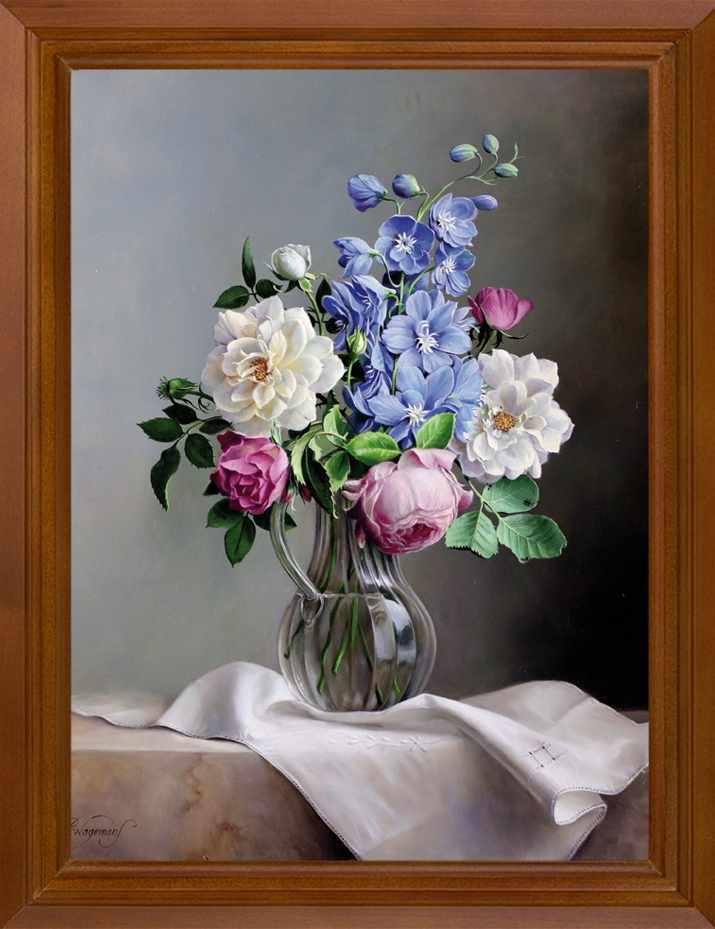 Р467 Цветы в графине - принт