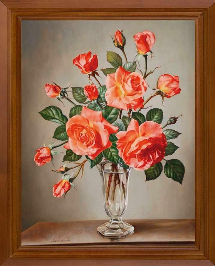 Р468 Розы в букете - принт
