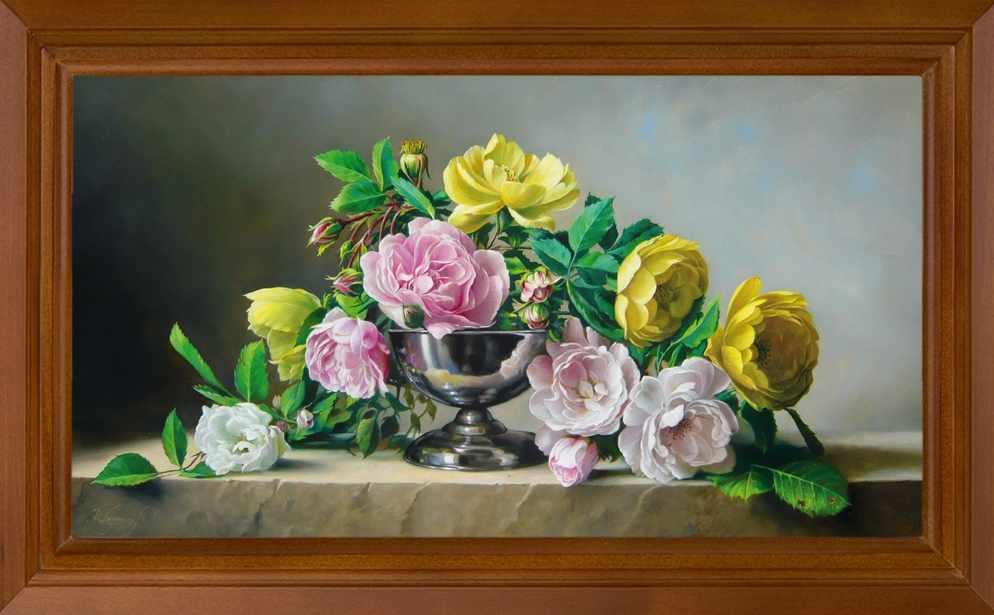 Р507 Натюрморт с розами - принт