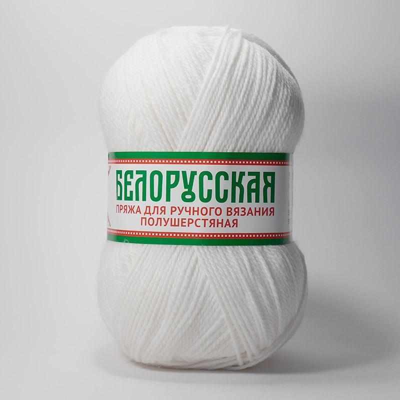 Пряжа Камтекс Белорусская Цвет.205 Белый