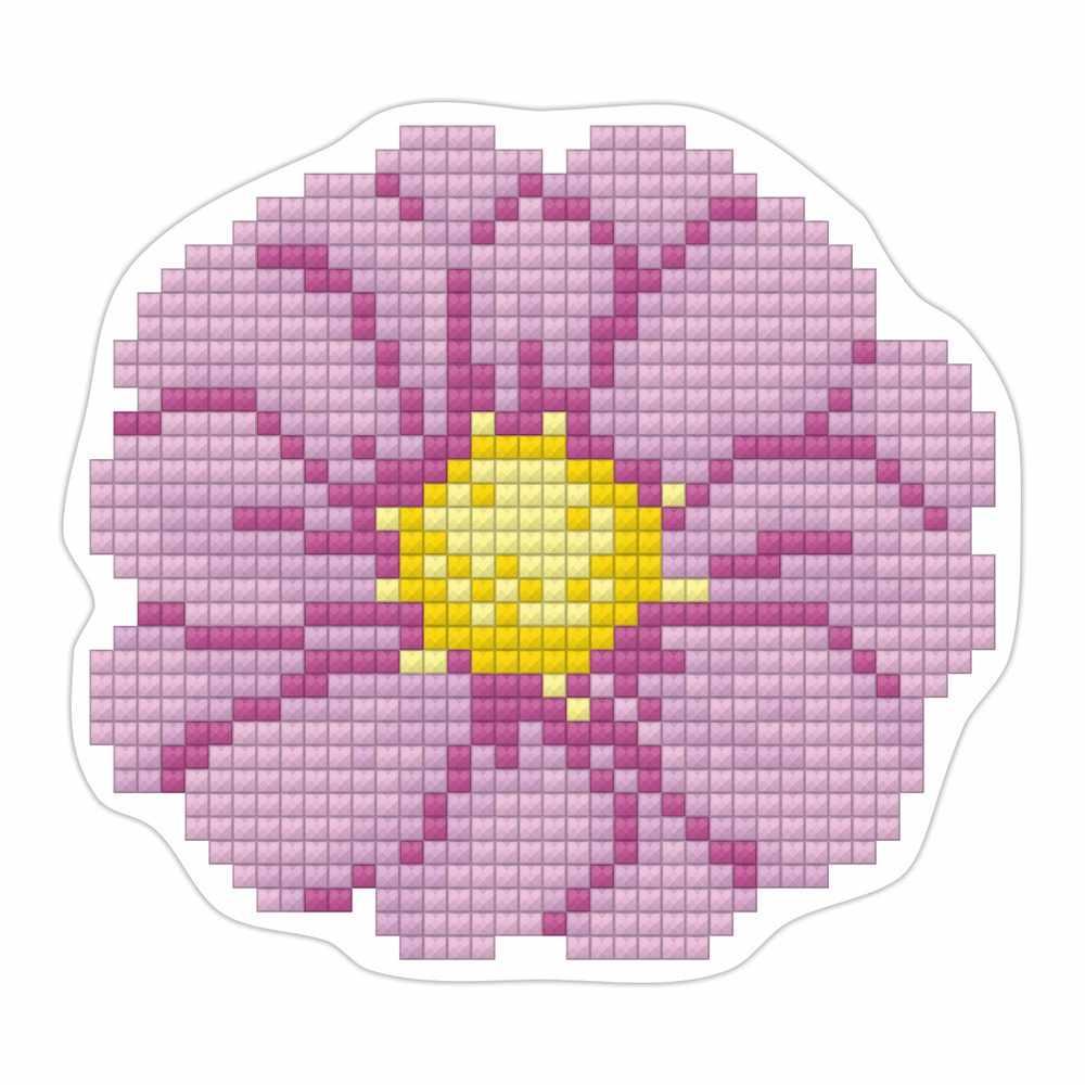 """ALVM-019 Кристальная мозаика (алмазная вышивка) магнит """"Цветочек"""""""