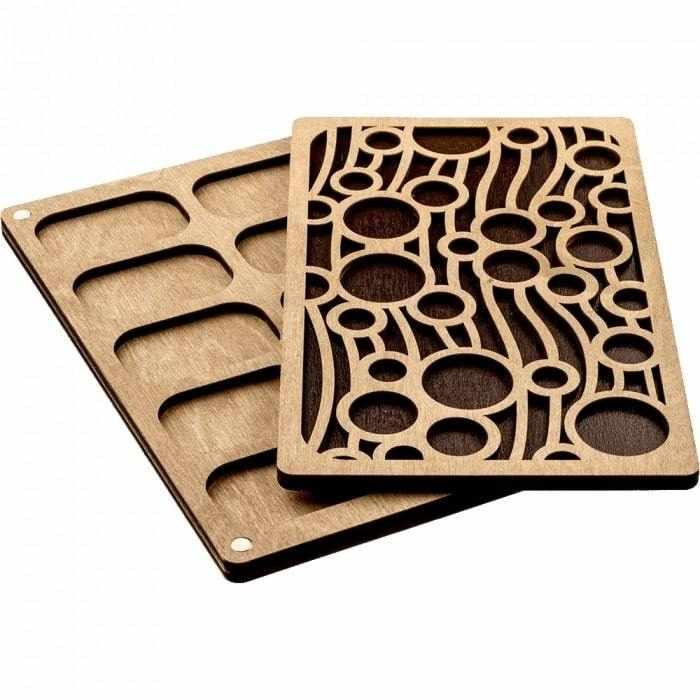 FLZB-052 Органайзер для бисера с деревянной крышкой