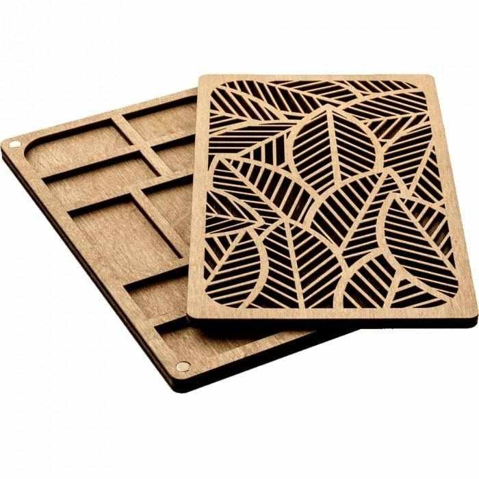 FLZB-049 Органайзер для бисера с деревянной крышкой