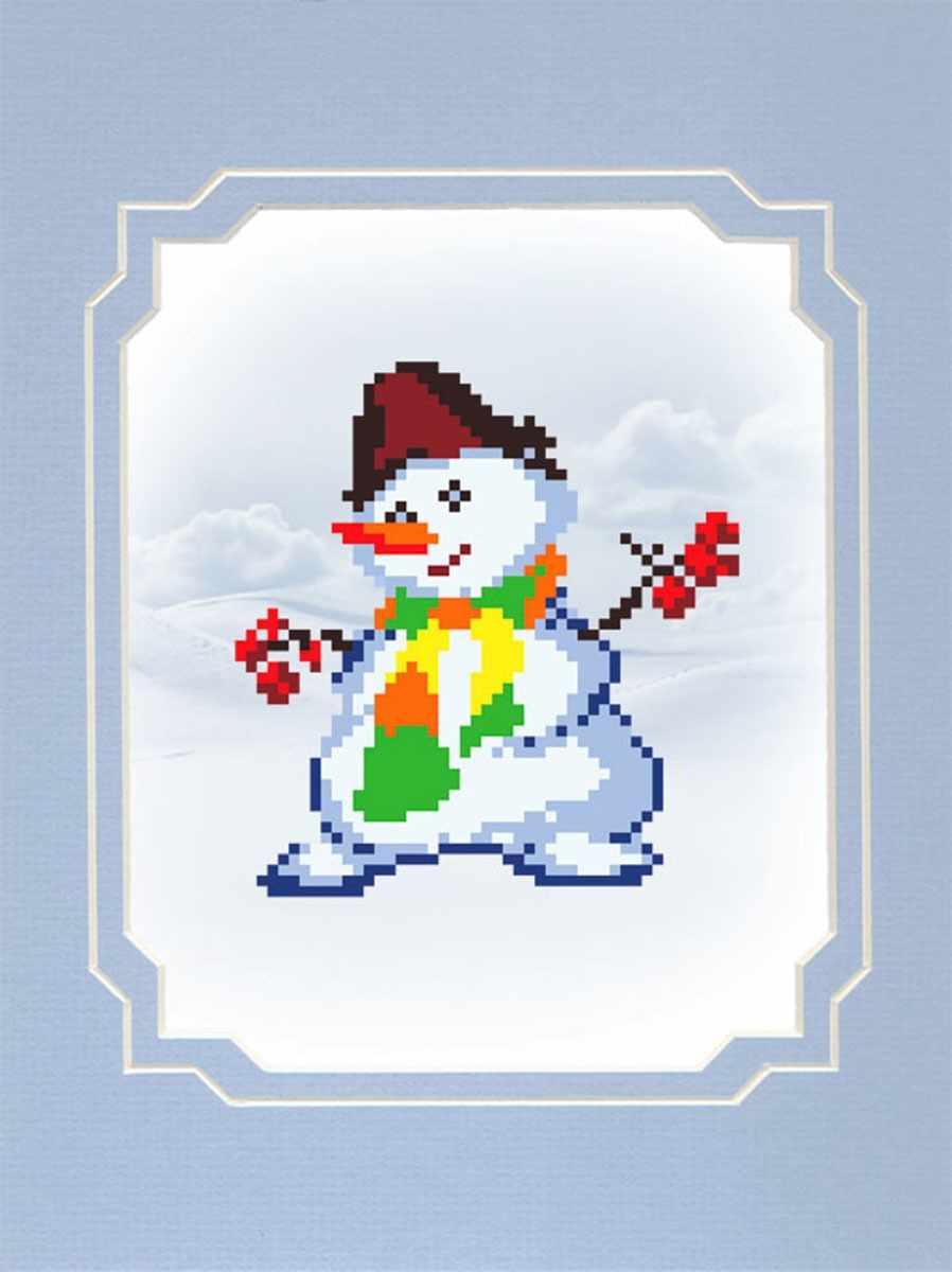 0084/БП Снеговик - набор для вышивания