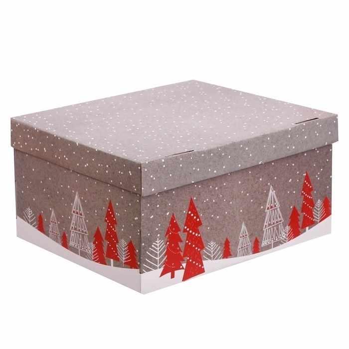 3640290 Складная коробка «Новогоднее поздравление»
