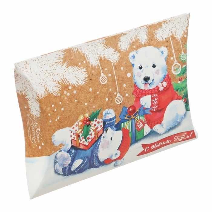 3573419 Коробка сборная фигурная «Медвежата с подарками»