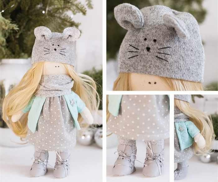 4289382 Интерьерная кукла «Мышка Элли», набор для шитья