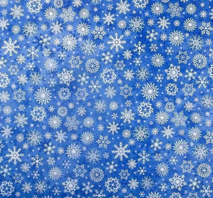 4444497 Бумага упаковочная глянцевая «Снежный вальс», 50 × 70 см