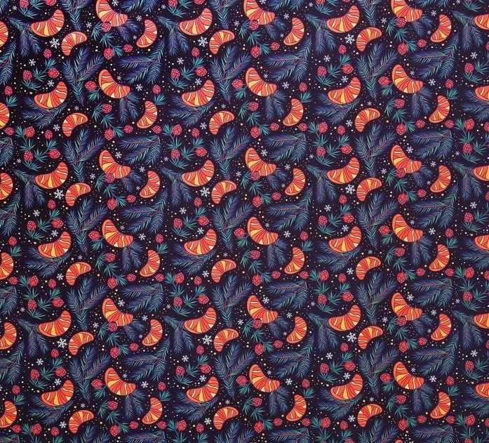 4472846 Бумага упаковочная глянцевая «Мандариновое настроение», 70 × 100 см