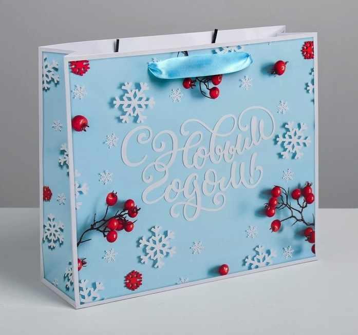 4262271 Пакет ламинированный горизонтальный «Счастливого Нового года», ML 8 × 27 × 23 см