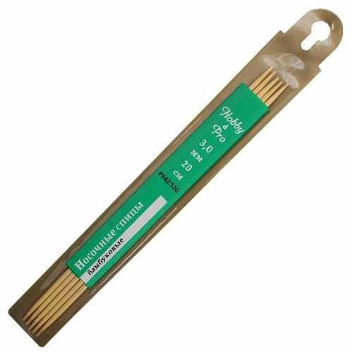 942560 Спицы носочные бамбук 20см, 6,0мм
