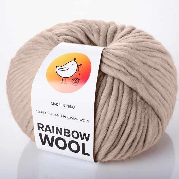 Пряжа RAINBOW BIRD RAINBOW WOOL Цвет.Warm taupe
