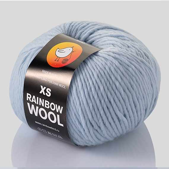 Пряжа RAINBOW BIRD XS RAINBOW WOOL Цвет.Blue powder