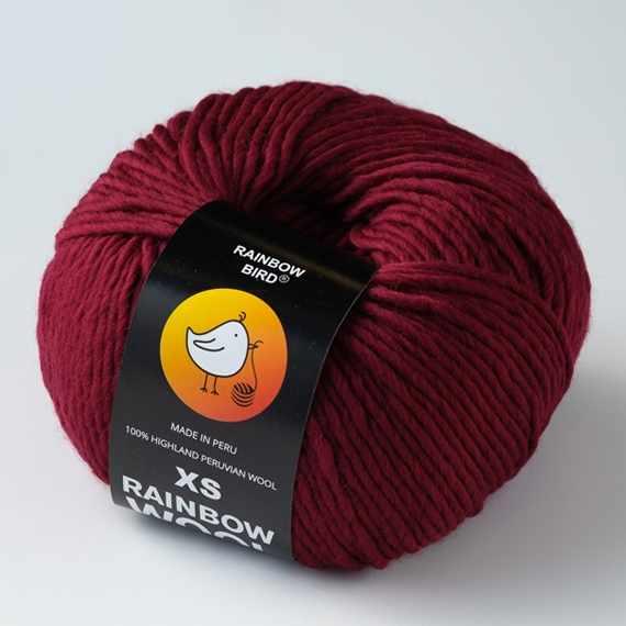Пряжа RAINBOW BIRD XS RAINBOW WOOL Цвет.Burgund