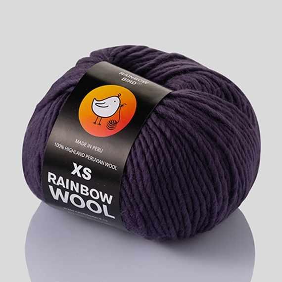 Пряжа RAINBOW BIRD XS RAINBOW WOOL Цвет.Smoky violet