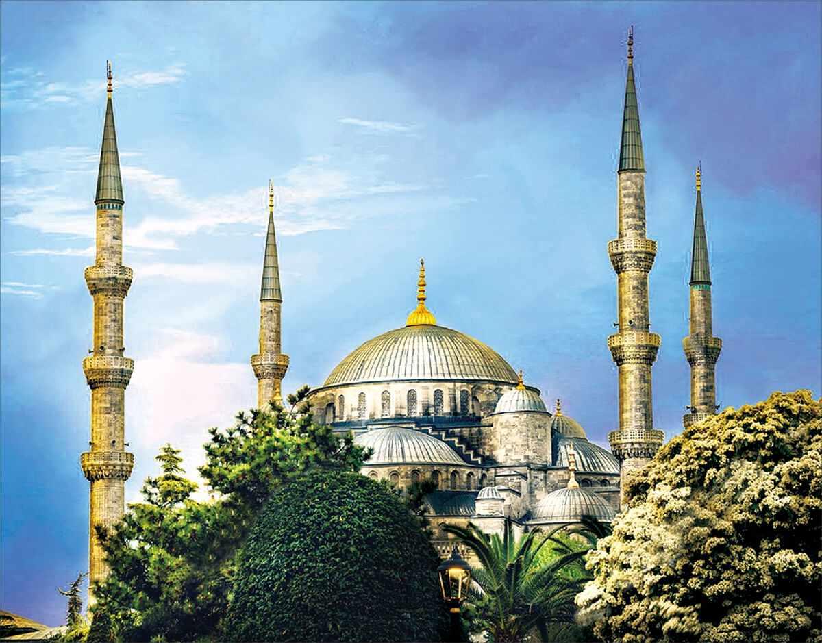 """Алмазная вышивка lg211 «Голубая мечеть"""""""