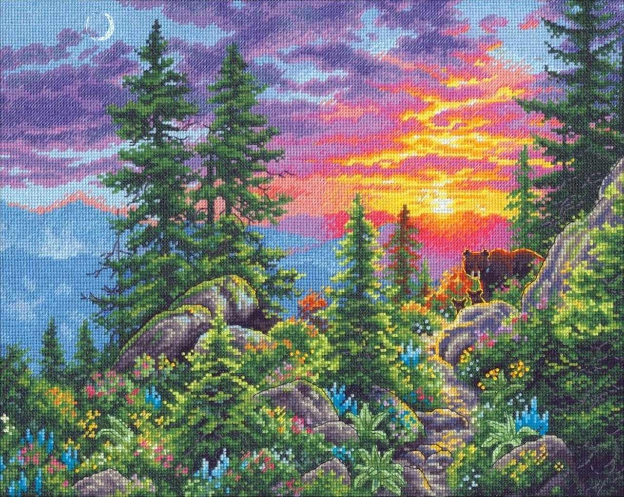 35383-DMS Горная тропа на закате