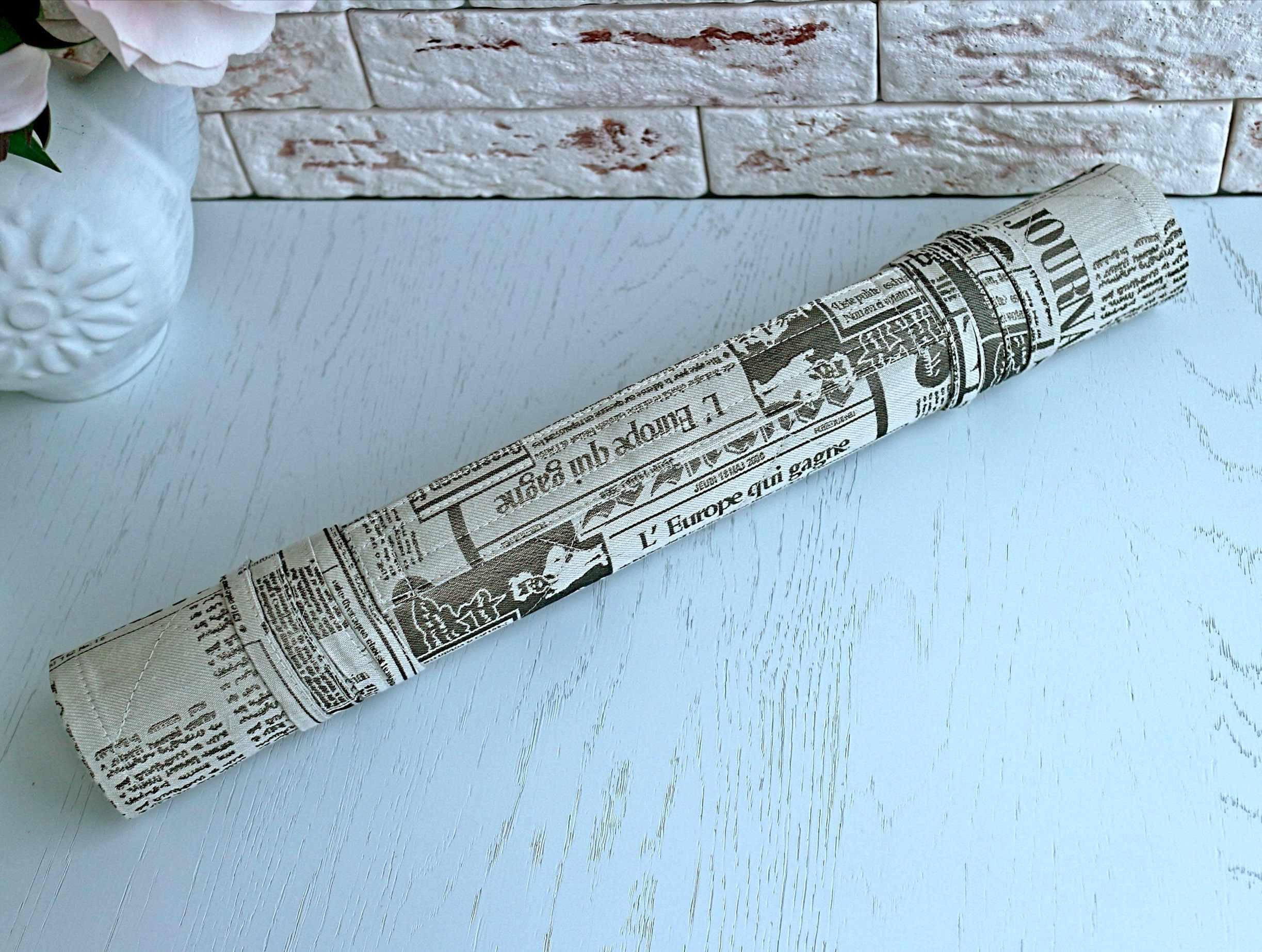Газета, коричневый - ролл для вышивки