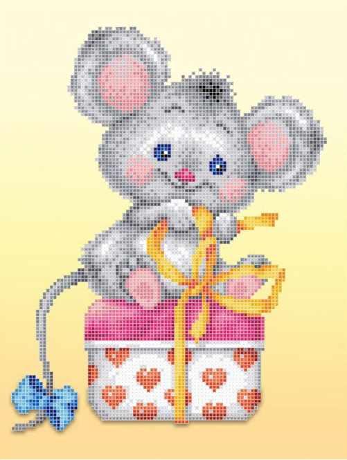 ЗПТ-018-А Мышка с подарком