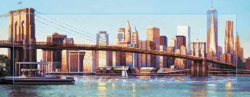 """Алмазная вышивка БС-034 """"Бруклинский мост днем"""""""