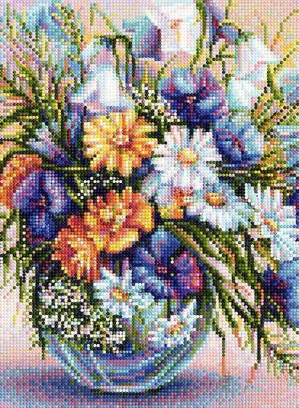 "Алмазная вышивка БСА3-167 ""Полевые цветы"""