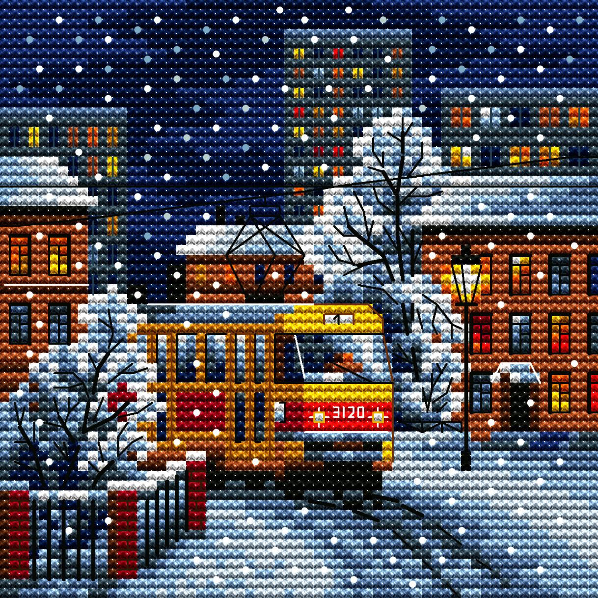 4106 Городской трамвай