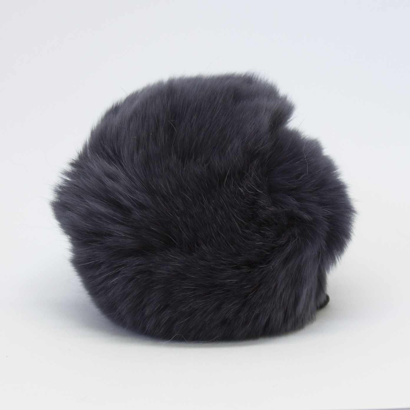 Помпон D9 мех кролик (рекс) Цвет.10 Серо-голубой