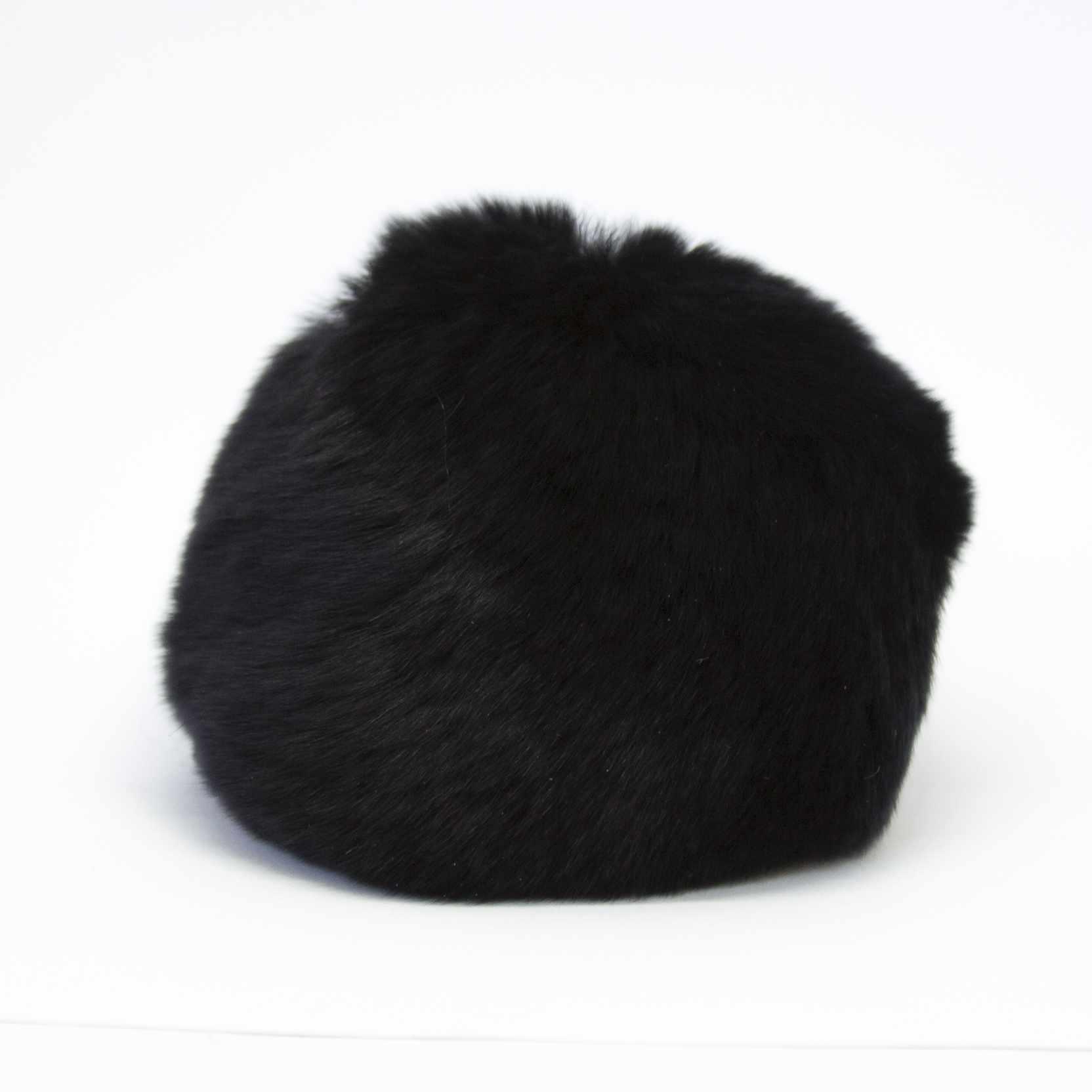 Помпон D9 мех кролик (рекс) Цвет.02 Черный
