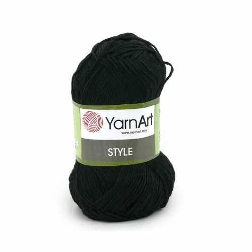 Пряжа YarnArt Style Цвет.651 Черный