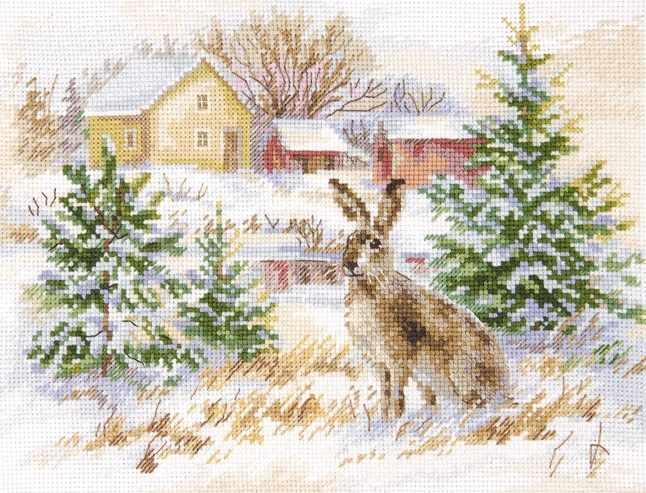 1-31 Зимний день. Заяц-русак