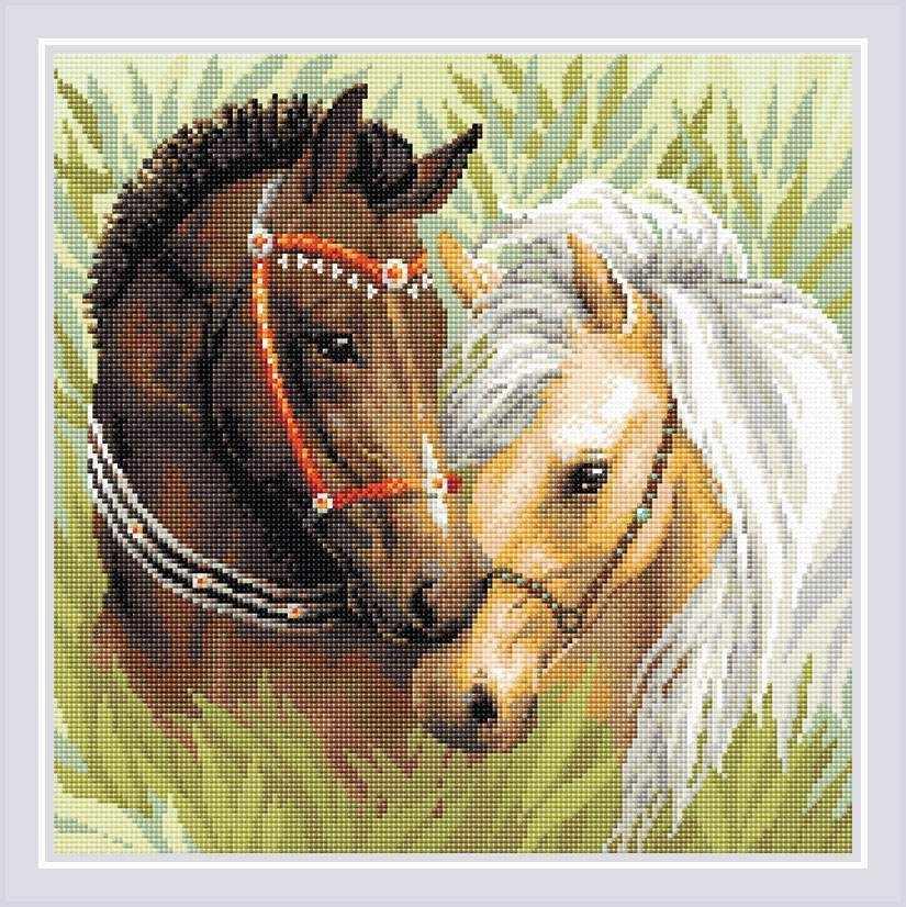 """Алмазная вышивка АМ0039 """"Пара лошадей"""""""