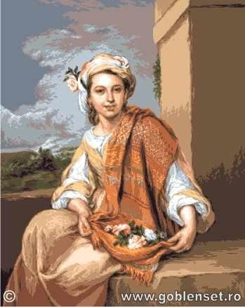 1112 Fata cu flori