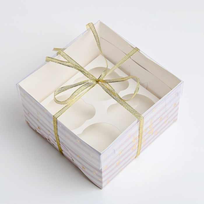 3822506 Коробка для капкейка Best day, 16 × 16 × 10 см